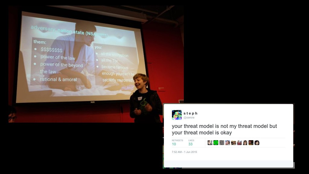 Your threat model is not my threat model